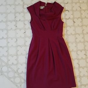 Gorgeous cranberry cowl neck dress by Kay Unger